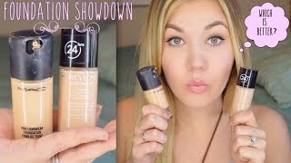 getlinkyoutube.com-Foundation Showdown: MAC Pro Longwear vs Revlon Colorstay