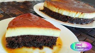 getlinkyoutube.com-طريقة عمل كيكة قدرة قادر ( كيكة كريم كراميل )  Crème caramel cake
