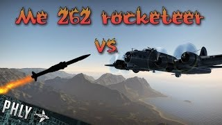 getlinkyoutube.com-War Thunder Me-262 Rockets Vs Huge BOMBER Formation- War Thunder Jet Gameplay