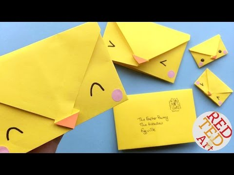Easy Chick Origami Envelopes - Cute & Easy Easter DIYs - Paper Crafts - 5 minute crafts