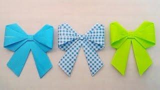 getlinkyoutube.com-How to fold a Ribbon bow ...พับโบว์เก๋ๆ ...
