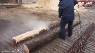 Szybkie korowanie drewna wodą