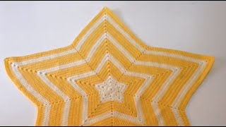 getlinkyoutube.com-Tutorial Manta Estrella a Crochet Ganchillo Fácil