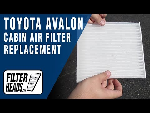 How to Replace Cabin Air Filter 2007 Toyota Avalon