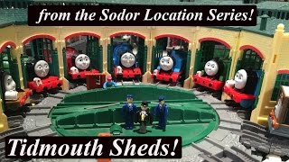 getlinkyoutube.com-Thomas and Friends Trackmaster Sodor Location-Tidmouth Sheds!