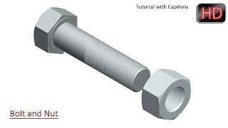 Modelling a Bolt and Nut in Creo Parametric