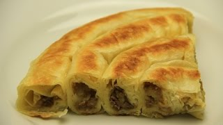 getlinkyoutube.com-Turkish Potatoes Rolled Borek Recipe Without Oven