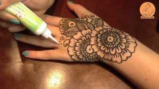 getlinkyoutube.com-احدث طريقة رسم حناء على اليد بالشكل الهندى