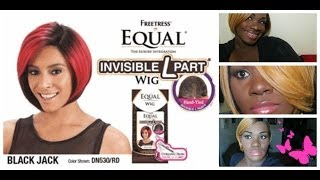 "Wig Review/Styling : Freetress Equal ""Blackjack"""
