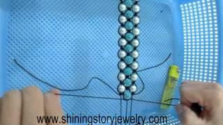 getlinkyoutube.com-how to make triple shamballa shambala macrame bracelets step to step guide make it yourself