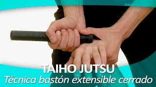 getlinkyoutube.com-TAIHO JUTSU 20 (sistema japonés defensa personal policial) |  Técnica bastón extensible cerrado