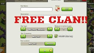getlinkyoutube.com-How to make a FREE CLAN in Clash Of Clans 2017(100%Working)!!!!