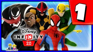 getlinkyoutube.com-Disney Infinity 2.0 Spider-Man Walkthrough Part 1 (Ultimate Spider Friends) Spiderman Play Set