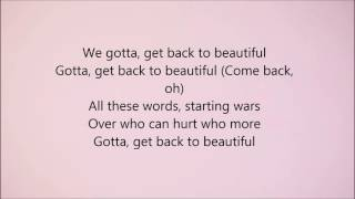 Sofia Carson - Back to Beautiful (Lyrics)