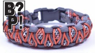 "getlinkyoutube.com-Make the ""Stitched Solomons Dragon"" Paracord Bracelet - Bored Paracord"