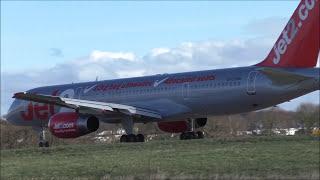 Planes at Leeds Bradford Int'l Airport, LBA   24-02-17