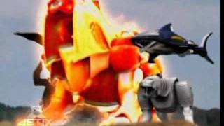 Power Rangers Wild Force - Pegasus Megazord Transformation