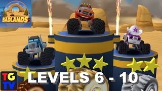 getlinkyoutube.com-Blaze and the Monster Machines - Badlands Levels 6 - 10