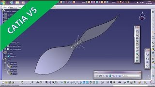 getlinkyoutube.com-Propeller with Laws - Catia v5 GSD Training - Sweep with Laws