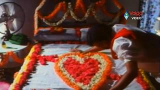 Pekata Papa Rao Romantic Scenes - Papa Rao First Night Scene  - Rajendraprasad, Khusbhu