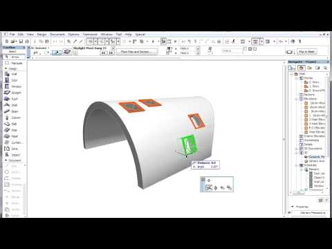 ArchiCAD 15 - Shells - Place skylights into shells