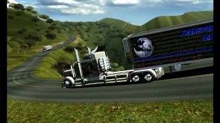 getlinkyoutube.com-18 WOS HAULIN KENWORTH W900L LARGE CAR AND EXHAUST STRAIGHT
