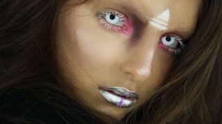 getlinkyoutube.com-Tribal Alien Halloween Tutorial