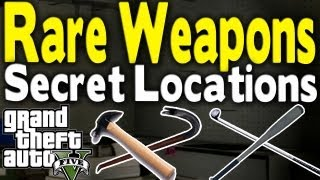 getlinkyoutube.com-GTA 5 - ALL SECRET & RARE MELEE WEAPON LOCATIONS (Bat, Golf Club, Hammer, & Crowbar) [GTA V]