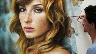 getlinkyoutube.com-Pittura ad olio su tela iperrealista - Millani Fabiano