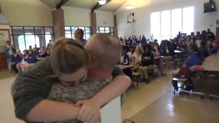 West Feliciana Middle School Student Get Surprise From Military  Father