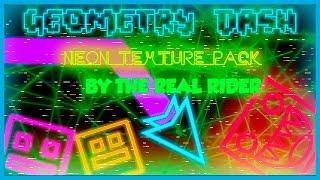 getlinkyoutube.com-EL MEJOR TEXTURE PACK GEOMETRY DASH 2.01 & 2.02 - Neon Texture Pack By TheRealRid3r