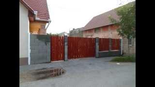 kerítés építés, guruló kapu készítése kőműves Budapest 70-285-93-93