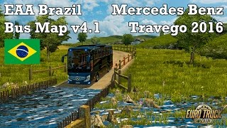 getlinkyoutube.com-Euro Truck Simulator 2 - #304 - Mercedes Benz Travego 2016 [EAA Brazil Bus Map v4.1]