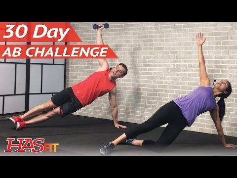 30 Day Ab Challenge 🗓 - #HASfitAbs Free Calendar