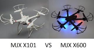 MJX X101 vs MJX X600 ends with midair collision crash
