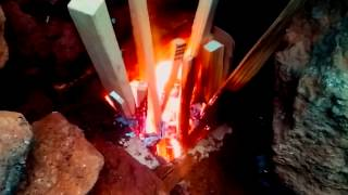 getlinkyoutube.com-Rocket Mass Heater Update