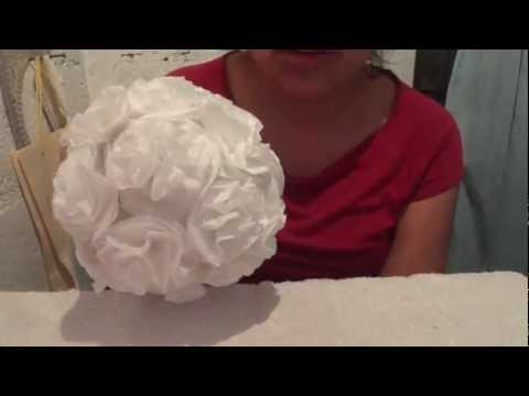 Esferas con flores de papel (Video 2 de 2) Manualidades Ideas Kenita