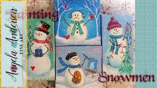 getlinkyoutube.com-Easy Snowman Ornaments | Acrylic Painting Tutorial | Free Live Event