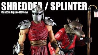 getlinkyoutube.com-Custom Neca Style Shredder and Splinter Figures review