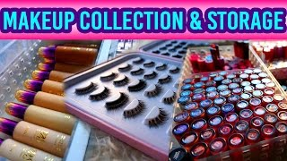 getlinkyoutube.com-My Makeup Collection, Storage & Organization | Glam&Gore