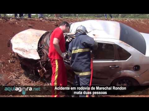 AquiAgora.net - Acidente em rodovia de Marechal Rondon mata duas pessoas