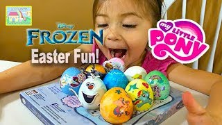 getlinkyoutube.com-💧 Easter Egg Coloring Frozen vs My Little Pony Special 2015: Let's Decorate Easter Eggs!