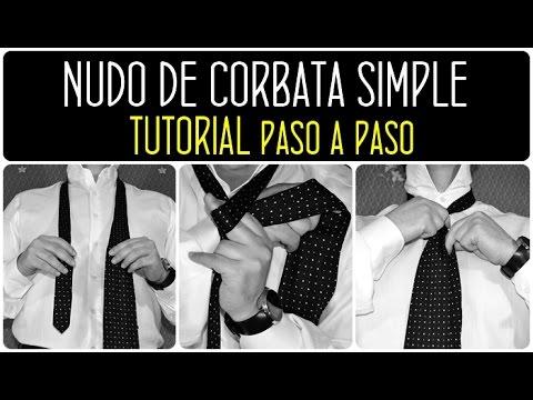 Nudo simple: Cómo hacer un nudo de corbata simple paso a paso. Moda hombre 2014