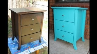 getlinkyoutube.com-*Home DIY* How To Paint Old Furniture