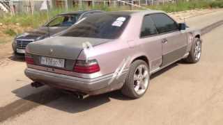 getlinkyoutube.com-Mercedes Benz W124 Cupe V12 exhaust sound 2