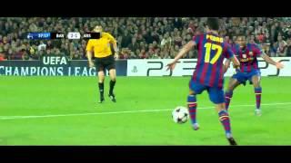 اهداف برشلونة 4 - 1 ارسنال سوبر هاتريك ميسي الشوالي [HD]