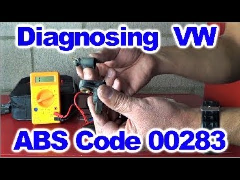 How to Diagnose 00283 VW ABS Code By Howstuffinmycarwor ks