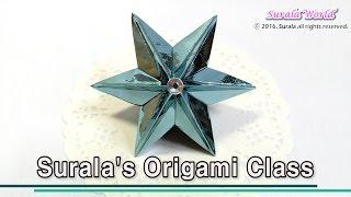 getlinkyoutube.com-Papermade Stars for Christmas trees (Origami, DIY)