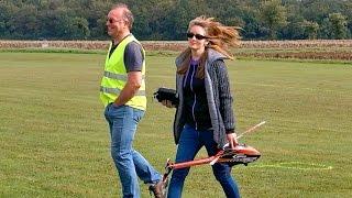 getlinkyoutube.com-JENNY BRANDT WITH THE RC MODEL HELICOPTER SAB GOBLIN 380 / Mega RC Airshow Göttingen 2015