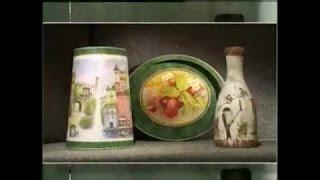 getlinkyoutube.com-Декупаж. Декорируем абажур, поднос и бутылку используя рисовую бумагу. Мастер класс. Наташа Фохтина